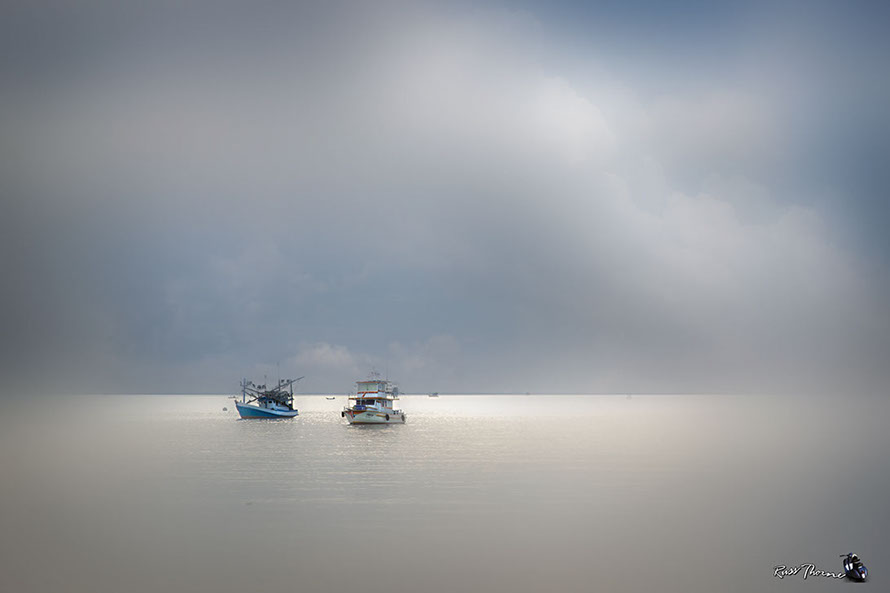 Fishing boats Ban Ampur, Thailand, Photo by Russ Thorne