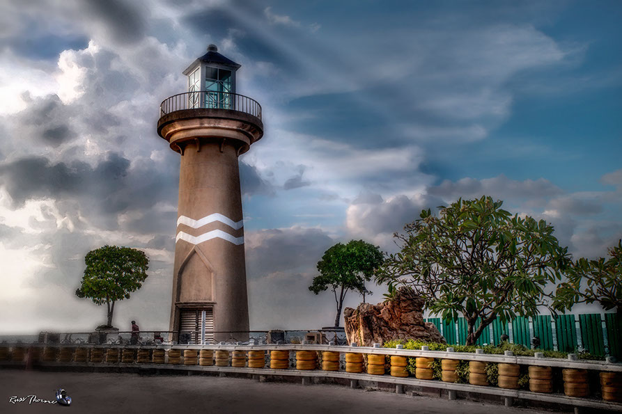 The Pattaya Bay Lighthouse, Pattaya Beach, Thailand. Photo by Russ Thorne