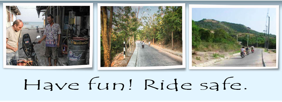 Motorbike Riding for fun on Koh Larn